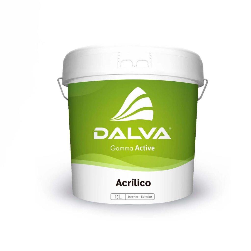 Latón de pintura con etiqueta de color verde de la Gamma Active de 13 litros de tipo Acrílico para interior y exterior.