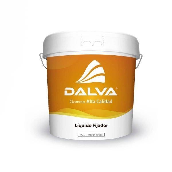Latón de pintura con etiqueta naranja de la Gamma Alta Calidad de 15 litros de tipo Líquido Fijador para interior y exterior.