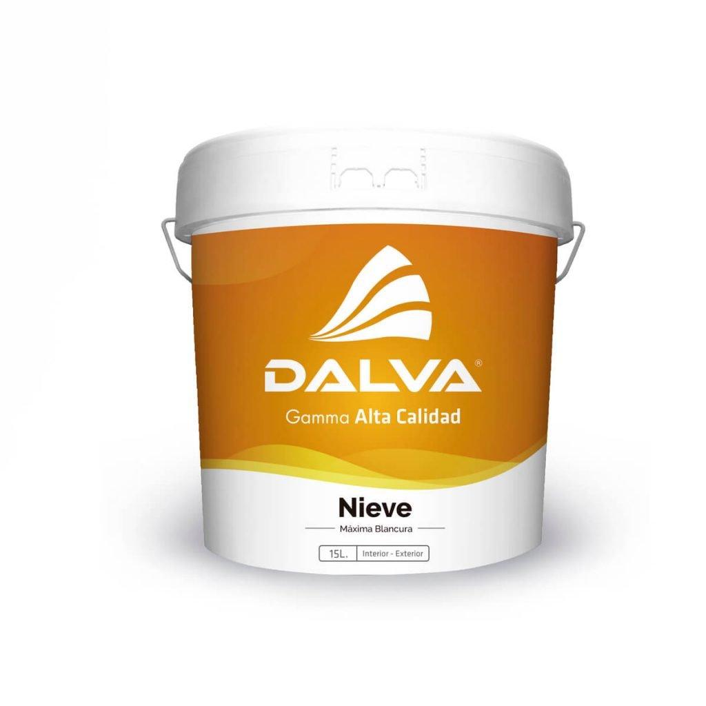 Latón de pintura con etiqueta naranja de la Gamma Alta Calidad de 15 litros de tipo Nieve Máxima Blancura para interior y exterior.