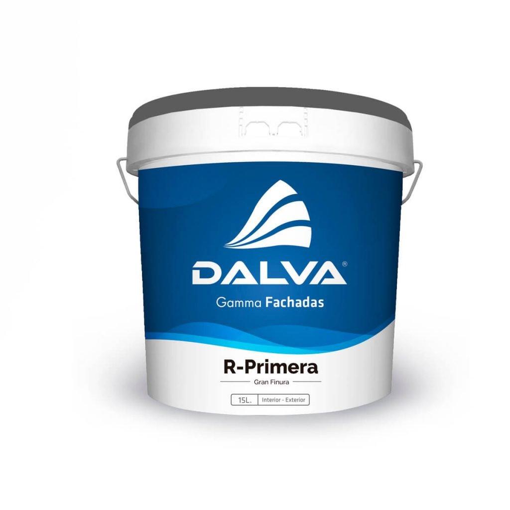 Latón de pintura con etiqueta azul de la Gamma Fachadas de 15 litros de tipo R-Primera Gran Finura para interior y exterior.