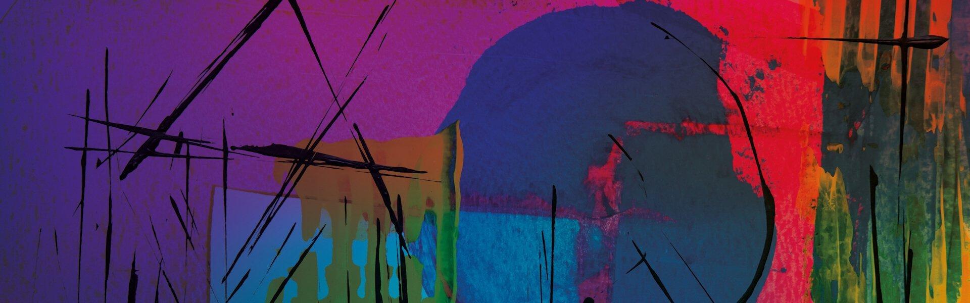 Foto con varios brochazos de pintura de varios colores