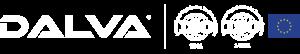 Logo pinturas dalva, logo ISO y bandera de la unión europea