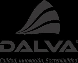 Logo Pinturas Dalva con el siguiente texto: Calidad, Innovación, Sostenibilidad.